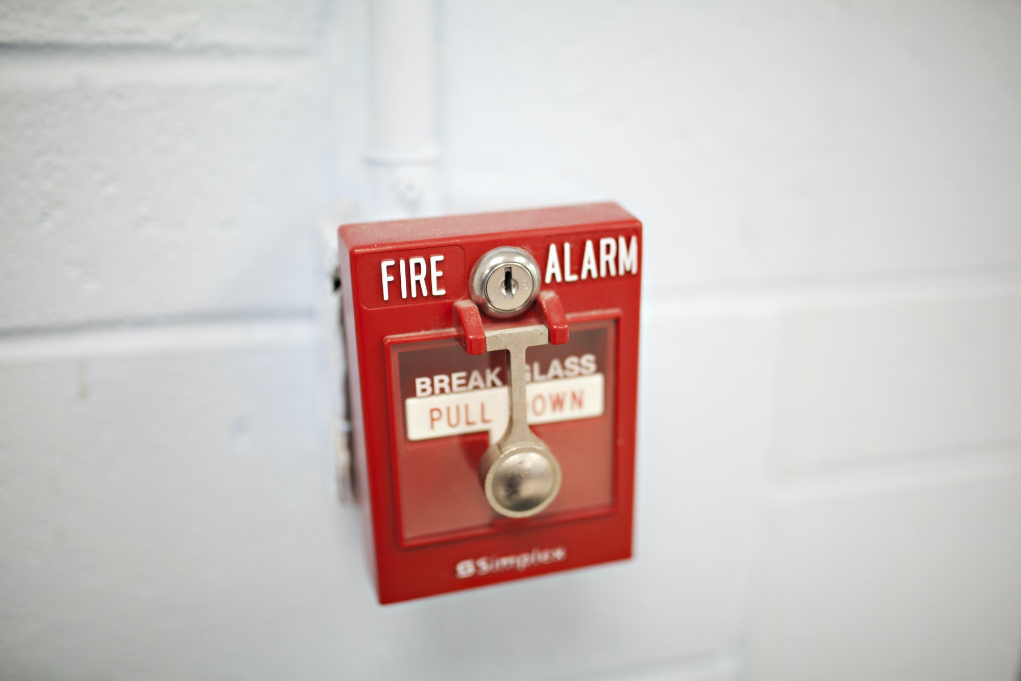 Fire alarm in a building