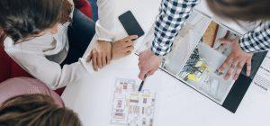 Real-Estate Agency Meeting Top View