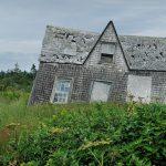gray house near green grass