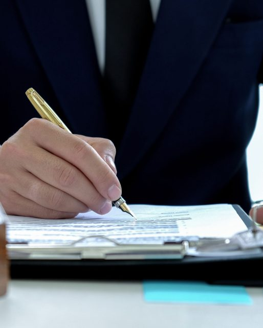 Real estate concepts,Loan officers are signing approving funds to buy houses.